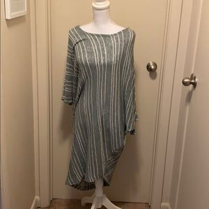 Rae Mode Green and White Stripe Tunic